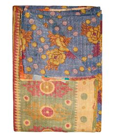 Bedding Home & Garden Handmade Indian Kantha Quilt Bedspread Cotton Paisley Throw Blanket Multi By Scientific Process