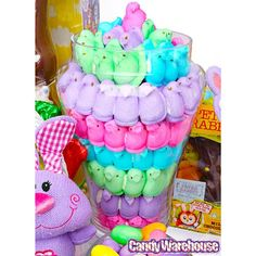 Love Peeps?! Peeps Marshmallow Chicks 5-Packs: 24-Piece Box has Purple Peeps, Green Peeps, Pink Peeps, Blue Peeps... The perfect Easter Candy, now in ANY COLOR, just click the picture now, or right here!  http://www.candywarehouse.com/products/peeps-marshmallow-chicks-5-packs-24-piece-box/?utm_source=Pinterest&utm_medium=Social&utm_campaign=Peeps