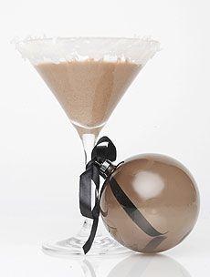 Merry Cherry    (2 ounces cherry vodka   1/2 ounce Irish cream   1/2 ounce dark chocolate liqueur   1 ounce half and half)