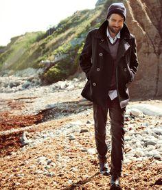 jacket, men styles, peacoat, fashion, dress, winter looks, future husband, guy style, cold weather