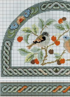 Birds (Part 1) free cross stitch pattern from www.coatscrafts.pl