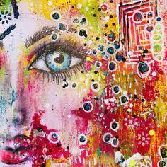 It's in the eyes - mixed-media mayhem! Art Alchemy Paint