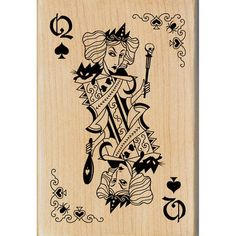 "Inkadinkado Halloween Mounted Rubber Stamp-Witch Queen Playing Card 2.75""X4"""