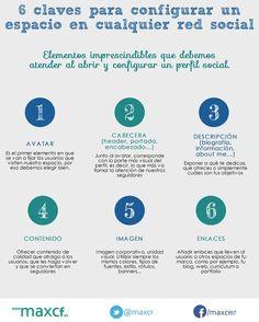 6 claves para configurar perfiles sociales #infografia #infographic #socialmedia