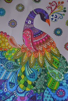 This Beautiful Peacock Is One That I Swiped From My Sons Coloring Book Loved