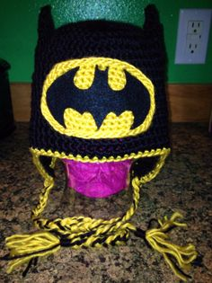 Crochet batman hat www.facebook.com/907nogginz