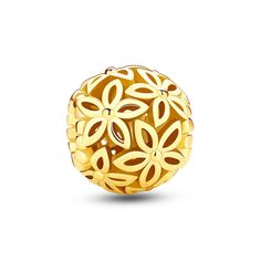 """Gold Flower Bouquet Charm❤Glamulet jewelry,fits all brands bracelet.Wonderful gifts for family,lover,friends...Get 5%off on www.glamulet.com with coupon code """"PIN5"""""""