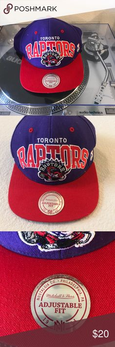 Mitchell & ness SnapBack Used Mitchell & ness Toronto Raptors hardwood classics SnapBack please see pictures for detailed use Mitchell & Ness Accessories Hats