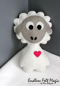 Baby Nursery Decoration Stuffed Felt Animal by EndlessFeltMagic
