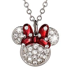 Minnie Mouse Icon Bow Necklace @Sarenatee would LOVE this!