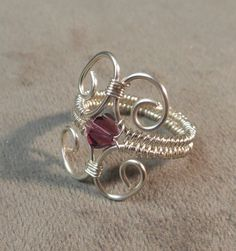Silver Wire Wrapped Ring Silver Ring Regal by RebeccasLanglois, $20.00