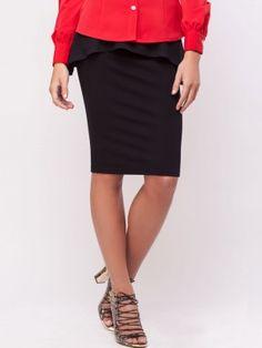 0119611f5e KOOVS Peplum Pencil Skirt Buy Skirts Online