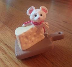 Hallmark Christmas ornament mouse with Swiss cheese Hallmark Christmas Ornaments, Christmas Presents, Christmas Holidays, Monkey Doll, Hallmark Cards, Beautiful Christmas Trees, Yule, Favorite Holiday, Swiss Cheese