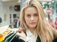 Clueless Outfits, Cher Clueless, Blonde Layers, Alicia Silverstone, Blonde Hair Looks, Bombshell Beauty, 90s Hairstyles, Hair Inspo, Dyed Hair