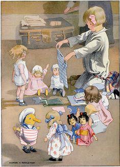 illustrations de honor c appleton - Page 7 Vintage Drawing, Vintage Artwork, Vintage Prints, Vintage Pictures, Vintage Images, Children's Book Illustration, Vintage Cards, Belle Photo, Vintage Children