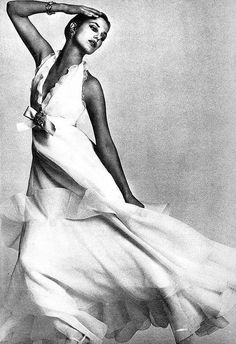 Jane Birkin in Dior by David Bailey for Vogue UK, 1972