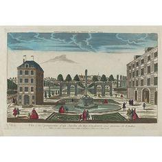 Print - Vue et perspective d'un Jardin du Roy d'Angleterre aux environs de Londres