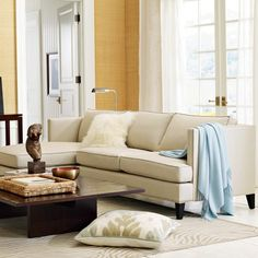 Hyde Customizable Sectional Sofa -upholster in grey flannel  #williamssonoma