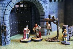 Personnage miniatures, châtelain, Table dwarven forge, rpg terrain, diorama 28mm, figurines, miniatures