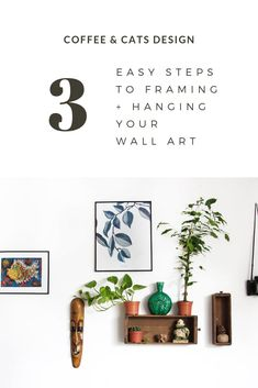 Wanna make the most of your new wall art? Learn how to choose the best frame and hanging position for your art in just 3 easy steps! Join the Coffee & Cats Community and get the free guide 'Framing + Hanging Made Easy' to make your wall art really pop! Trendy Home Decor, Cute Home Decor, Cozy Apartment Decor, Living Room Decor Inspiration, Unique Home Accessories, Easy Coffee, Modern Bedroom Decor, Gifts For Your Boyfriend, Interior Design Tips