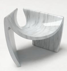 Sunshare Chair by Emmanuel Babled  ...made of carrara marble, created with the use of innovative computer programs.