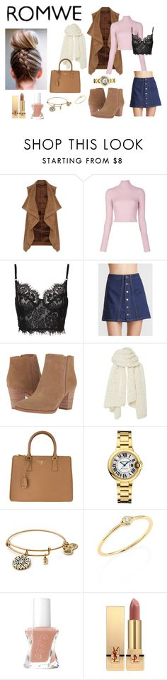 """""""romwe competition"""" by lelesvanitytalk ❤ liked on Polyvore featuring Dorothy Perkins, A.L.C., Franco Sarto, I Love Mr. Mittens, Prada, Sydney Evan and Yves Saint Laurent"""