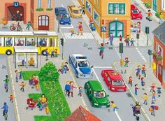 TOUCH this image: interactieve praatplaat thema verkeer voor peuters by Nancy Derks-Kooistra Writing Pictures, Picture Writing Prompts, German Language Learning, Teaching English, Speech Language Therapy, Speech And Language, Action Verbs, Picture Boards, Hidden Pictures