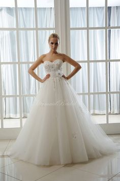 Ball Gown Wedding Dress Corset Back Applique Lace Flowers Sweetheart Neckline on Etsy, $399.00