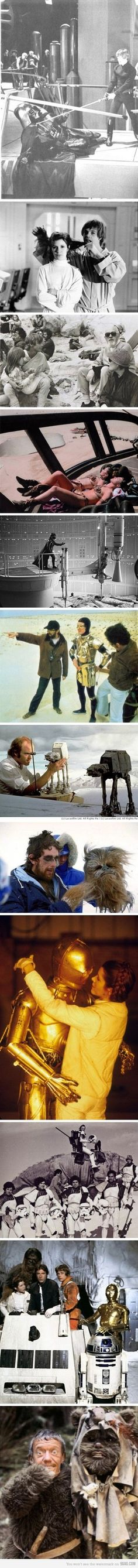 Meanwhile, on the Star Wars set...