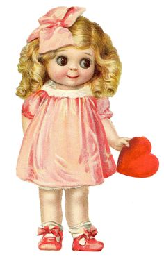 JD Kestner Googlie Doll scrap image