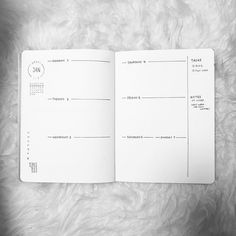 Bullet journal weekly layout, weekly habit tracker, weekly task tracker, weekly notes. | @kareninks