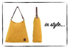 """Let the sunshine into your life with """"sunny yellow"""" shoulder tote Summer Handbags, How To Make Handbags, Leather Shoes, Sunshine, Bright, Belt, Tote Bag, Purses, Yellow"""