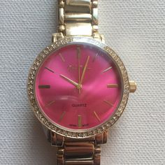 Pink and gold watch #womenwatches #watches