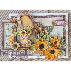 Heartfelt Creations - Sunflowers And Butterflies Window Project