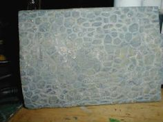 Creative Paperclay stone floor technique