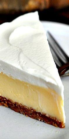 Luscious Lemon Cream Pie. Filling: sweetened condensed milk, lemon juice, egg. Topping: heavy whipping cream, sweetened condensed milk. Mel's Kitchen Cafe blog