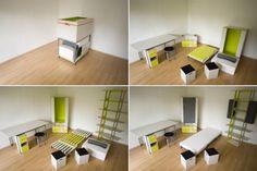 Casulo: un dormitorio completo en una caja