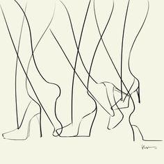 Line legs - Line Heels  by Floyd Grey