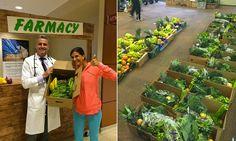 Quanto mais alimentos saudáveis e orgânicos, melhor! É o que receita este médico aos seus pacientes na farmácia aberta no próprio hospital.