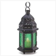 Green Glass Moroccan Lantern. Starting at $1 on Tophatter.com!