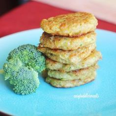 Broccoli Cheese Patties - Easy toddler meals