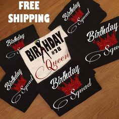 Birthday Girl Shirts Birthday Squad Shirt Friend Squad