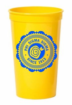Phi Sigma Sigma Old Style Classic Giant Plastic Cup