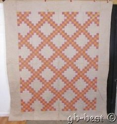 Antique 1900s Pennsylvania Irish Chain QUILT 92 x 80 ~ First Time Listed ~Estate