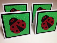 Set of 4 Mini Lady Bug Cards by debkcreations on Etsy, $3.25