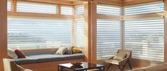Hunter Douglas Silhouette window shadings living room