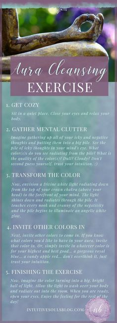 This aura cleansing exercise will help clear up your energetic fields in a jiffy. - This aura cleansing exercise will help clear up your energetic fields in a jiffy! For more exercise - Meditation Musik, Chakra Meditation, Aura Cleansing, Energy Cleansing, Stress, Holistic Healing, Yoga Quotes, Meditation Quotes, Quotes Quotes