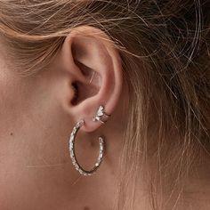 Hoop life with the Alaia silver hoop earrings #ruegembon