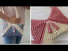 Bolsa ponto relevo (parte1) - YouTube Crochet Bag Tutorials, Crochet Videos, Paper Crafts, Blog, Accessories, Youtube, Pandora, Crochet Beach Bags, Beach Bags