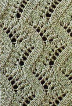 Patrones calados agujas de tejer